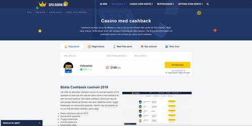 Cashback-casinon