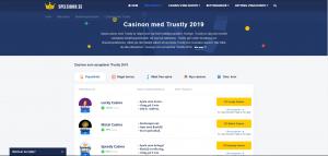 Casino med Trustly topplista 2019
