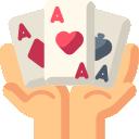 Pokerhand bild
